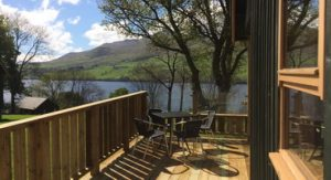 View from two bedroom lodge at Bracken Lodges Self-Catering Holiday Loch Tay Kenmore Killin Perthshire